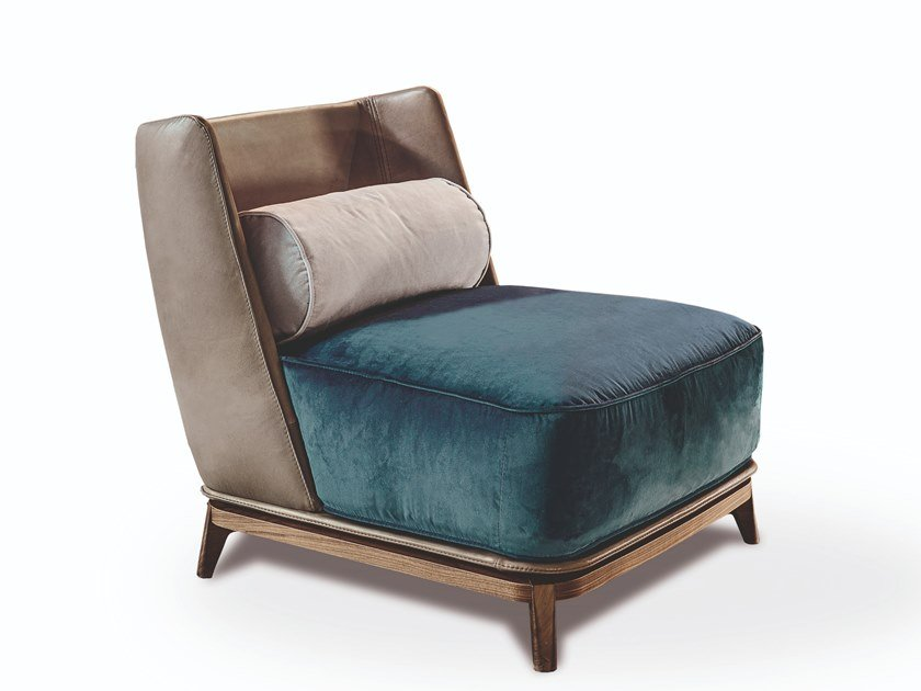 Upholstered leather or fabric armchair 430 OPERA | Armchair by Vibieffe
