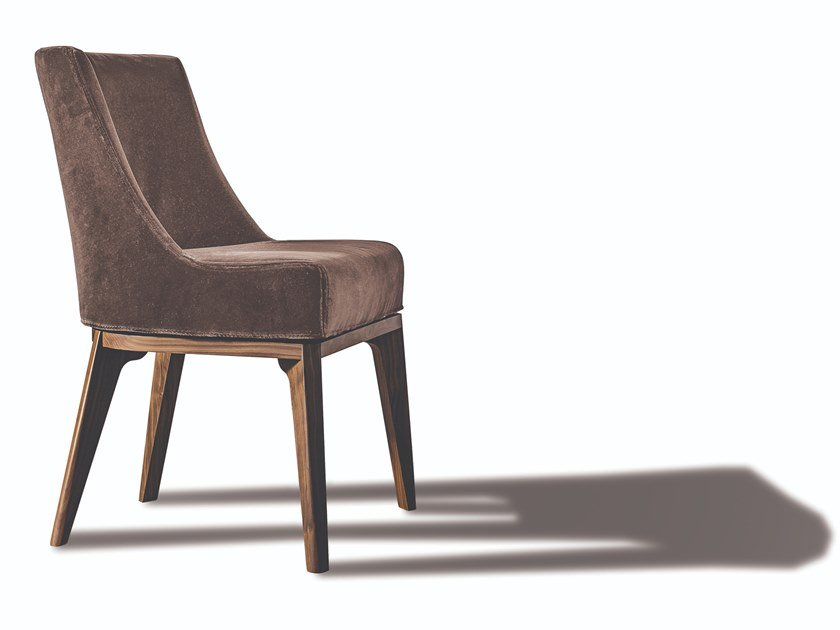 Upholstered fabric or leather chair with removable cover 430 OPERA | Chair by Vibieffe