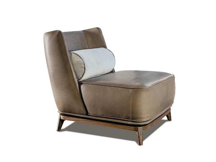 Upholstered leather armchair 430 OPERA | Leather armchair by Vibieffe