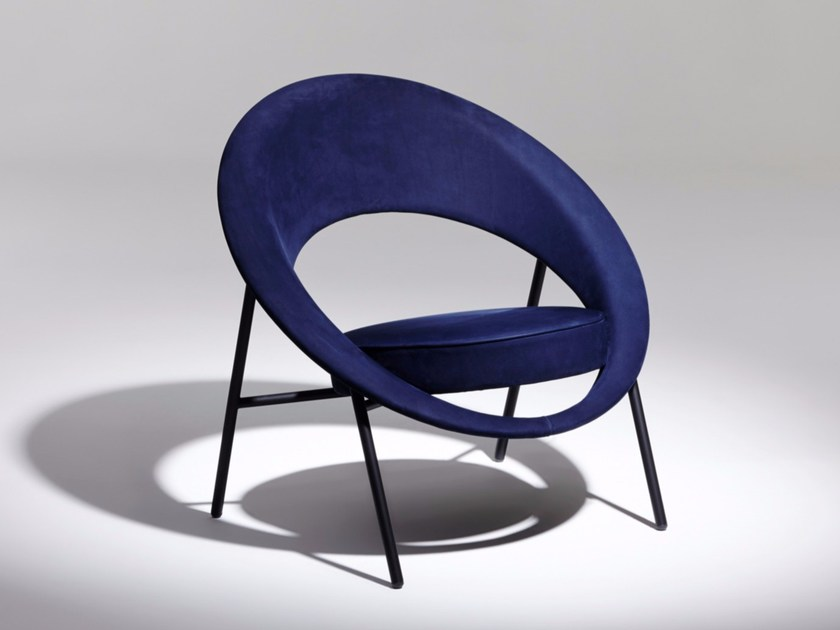 Upholstered fabric easy chair 44 | Fabric easy chair by Burov