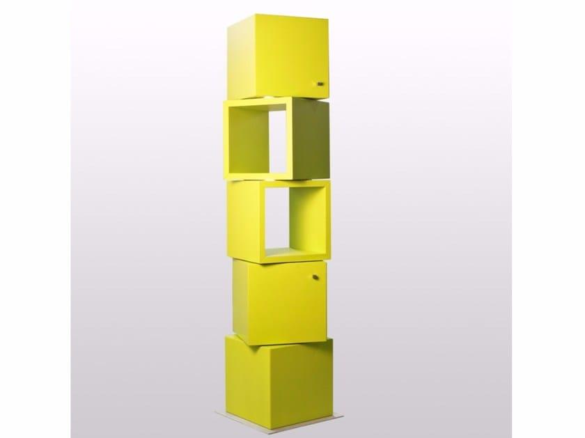 Libreria autoportante girevole modulare 45 GIRI by ARKOF LABODESIGN