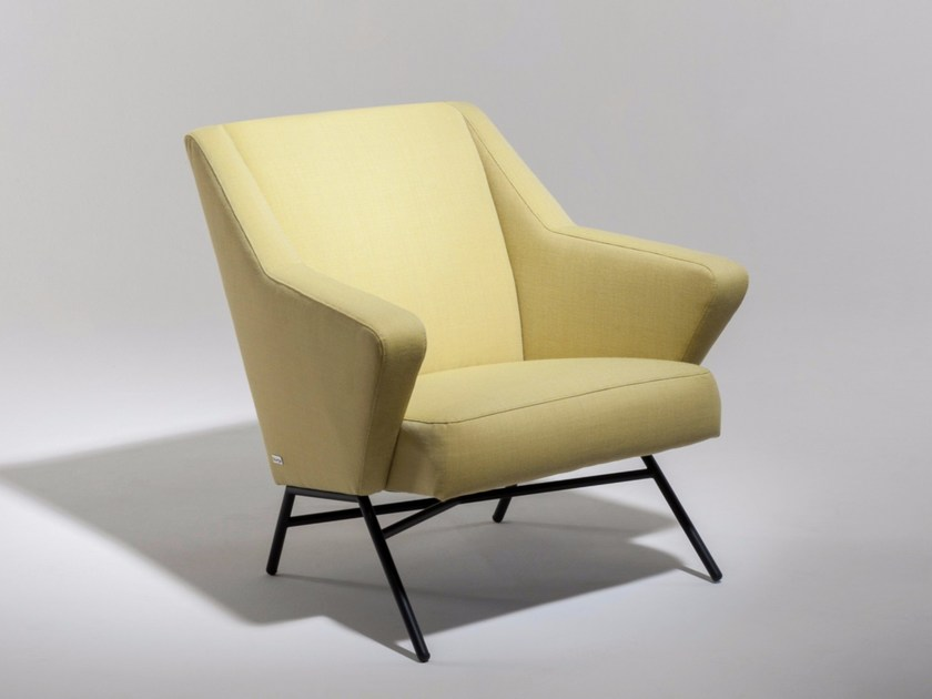 Fabric armchair with armrests 45 | Armchair by Burov