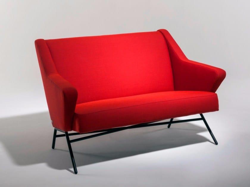 High-back fabric small sofa 45 | Small sofa by Burov