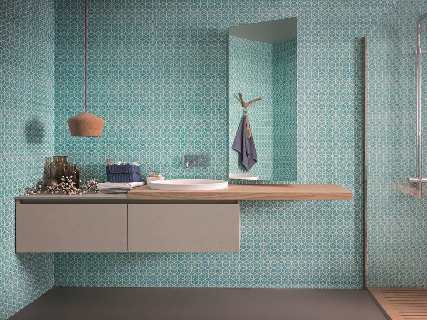 Lacquered wall-mounted vanity unit 45 | Vanity unit by Birex