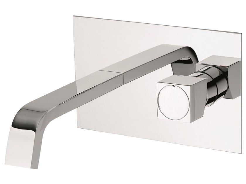 Wall-mounted brass washbasin mixer without waste 47055 | Wall-mounted washbasin mixer by EMMEVI RUBINETTERIE
