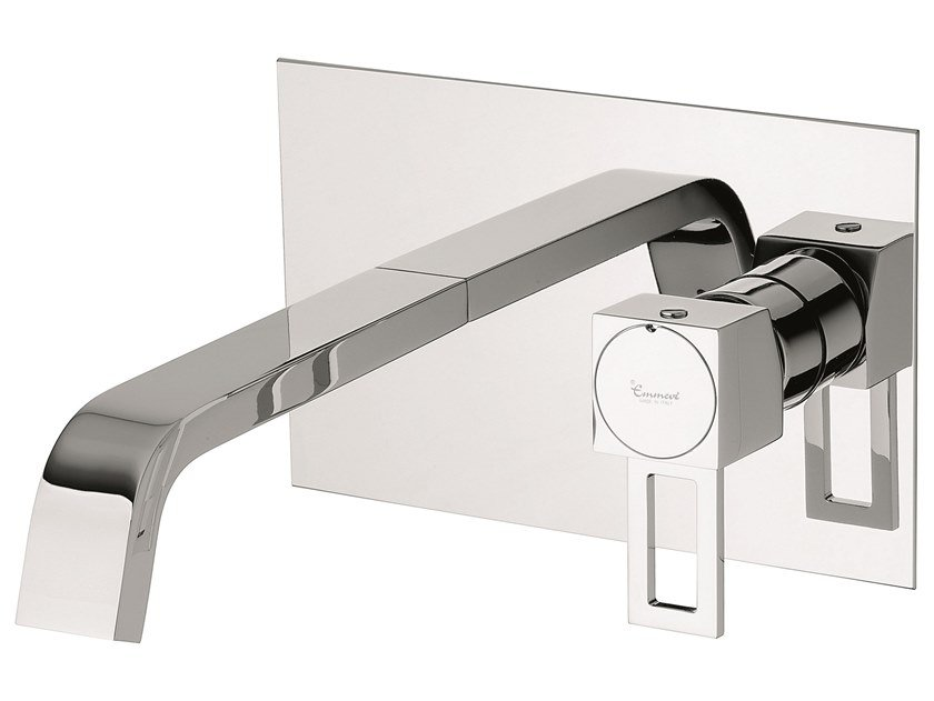Wall-mounted brass washbasin mixer without waste 47055 | Washbasin mixer without waste by EMMEVI RUBINETTERIE