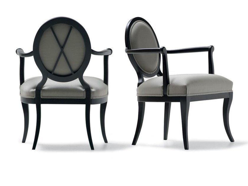 Medallion fabric armchair with armrests 49018 | Armchair by OPERA CONTEMPORARY