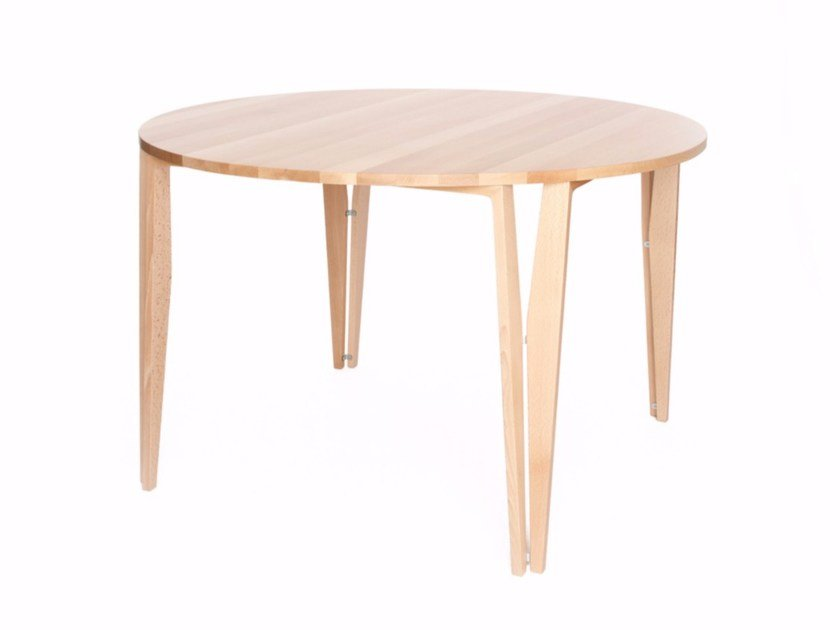 Round wooden table 4U T H76 | Table by Z-Editions