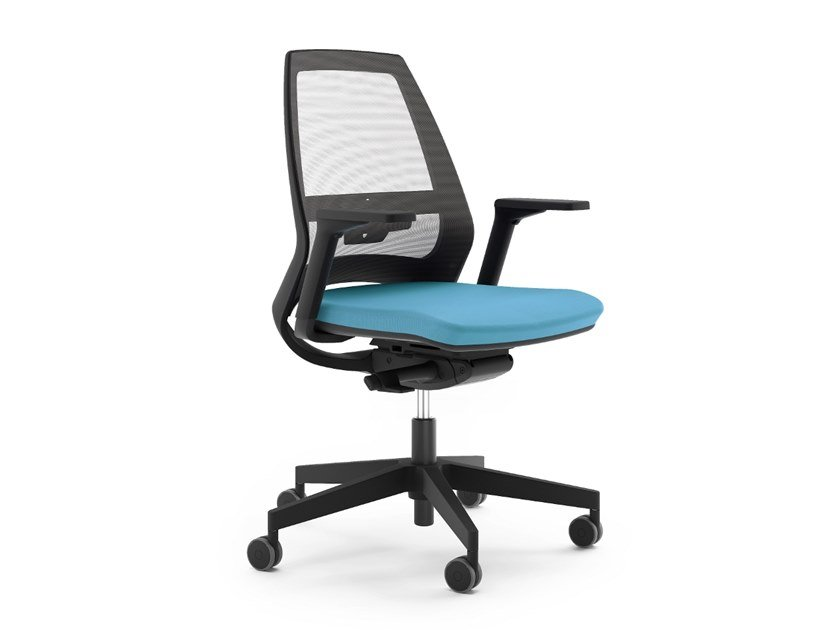 Task chair with 5-Spoke base with casters 4US by La Manufacture du Design
