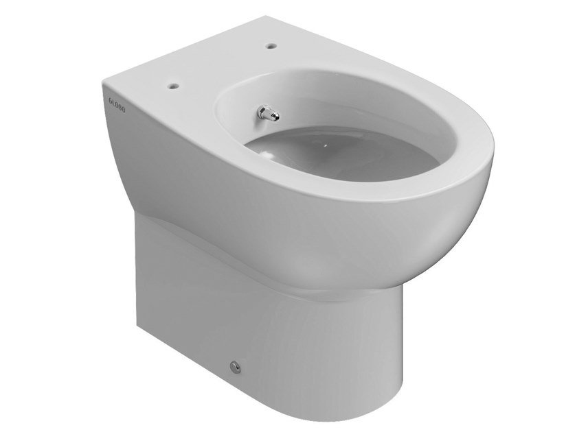 Floor mounted ceramic toilet with bidet with spray 4ALL | Floor mounted toilet with bidet by Ceramica Globo