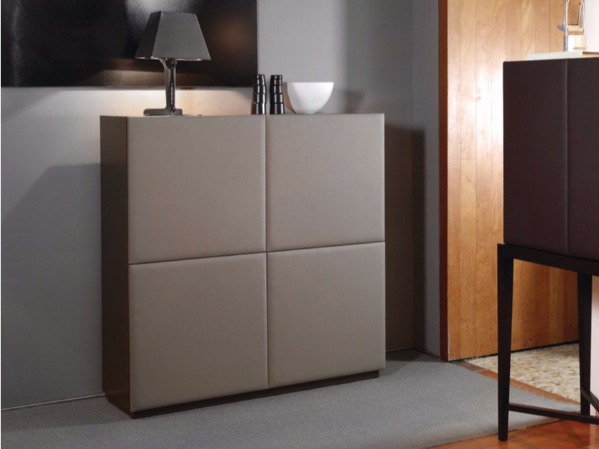 Leather highboard with doors 4DOOR | Leather highboard by HMD INTERIORS