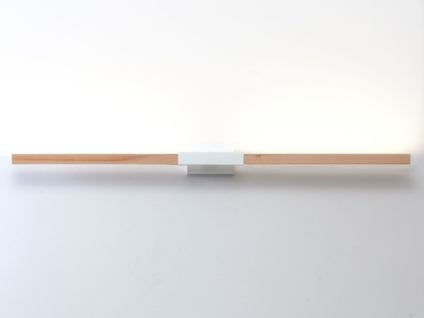 LED wooden wall lamp 4ft HORIZONTAL SCONCE by Stickbulb