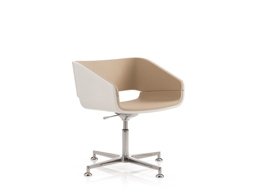 Height-adjustable task chair with 4-Spoke base 4UNDICI | Task chair by Emmegi