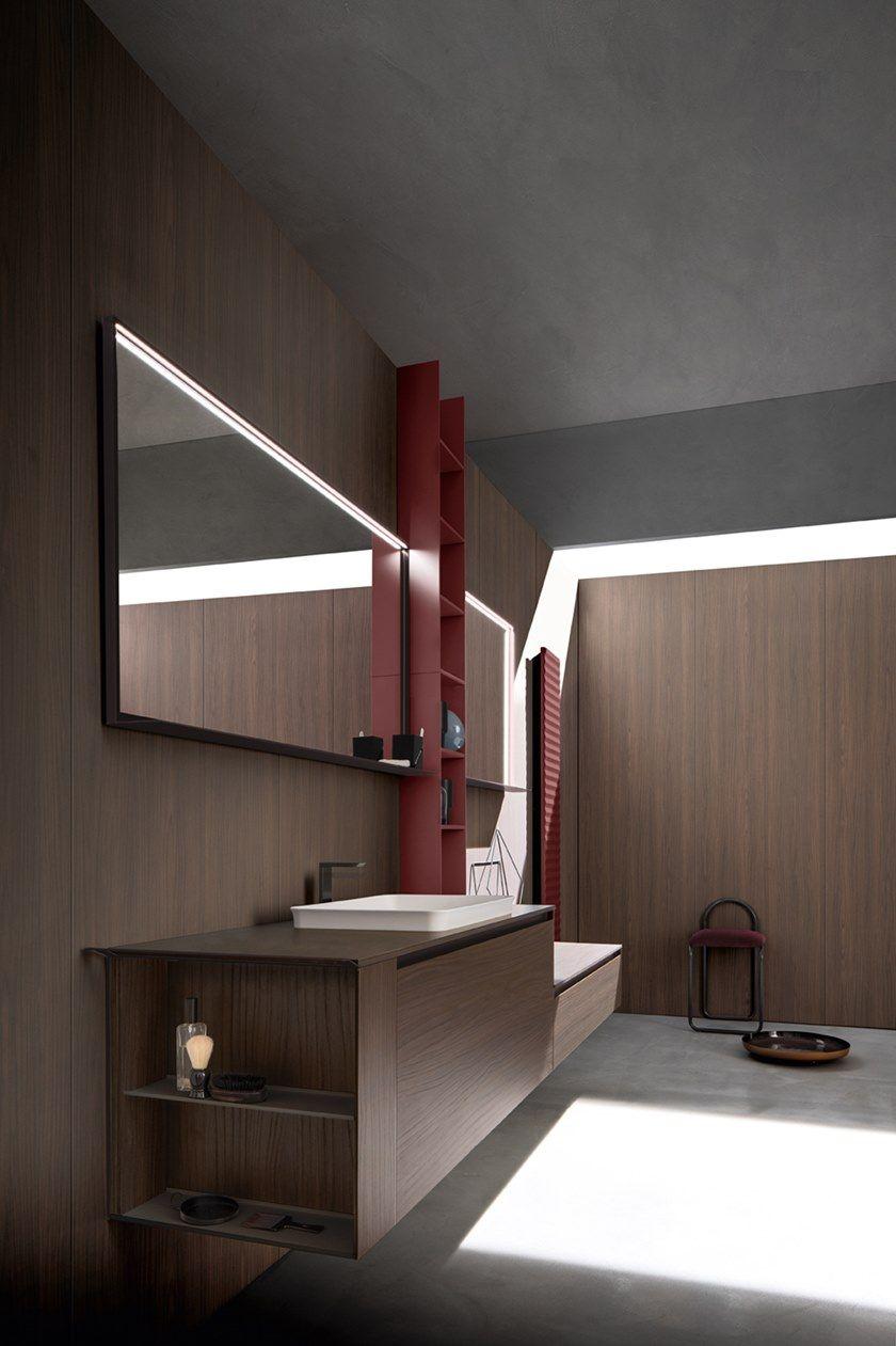 Mobile lavabo sospeso con cassetti 5.ZERO | Mobile lavabo