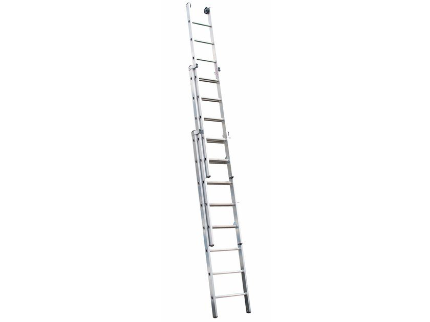 Aluminium heavy duty ladder 5048 by Frigerio Carpenterie