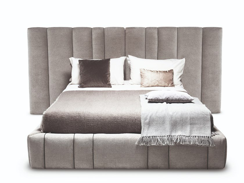 Fabric bed with upholstered headboard 5050 ITALO by Vibieffe