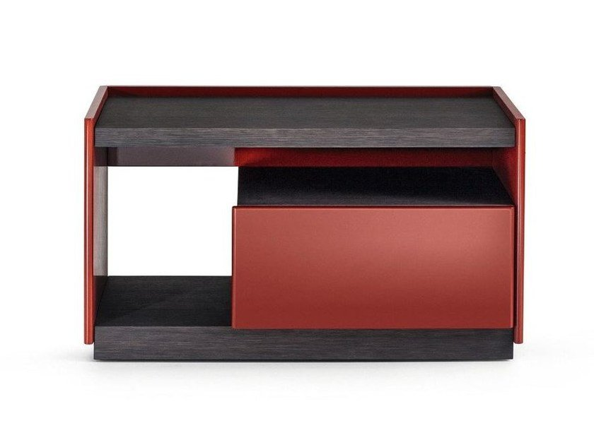 Wooden bedside table with drawers 5050 | Bedside table by Molteni
