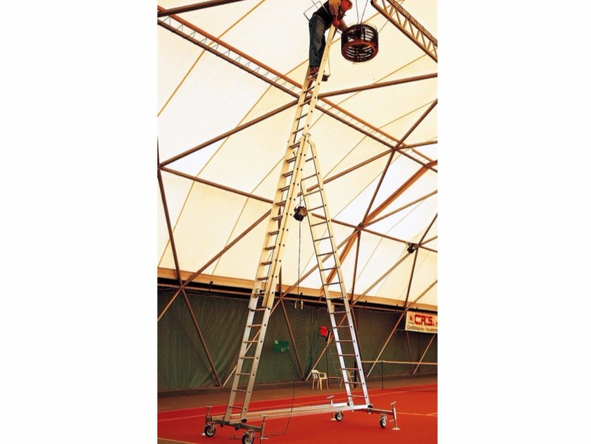 Aluminium heavy duty ladder 5056 by Frigerio Carpenterie