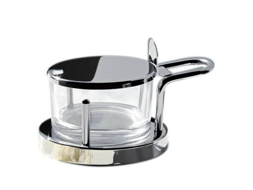 Stainless steel grated cheese bowl 5071   Grated cheese bowl by Alessi