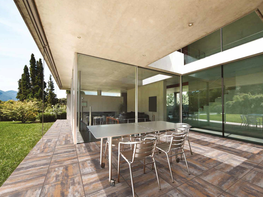 Reconstructed stone outdoor floor tiles 50X50 by RECORD - BAGATTINI