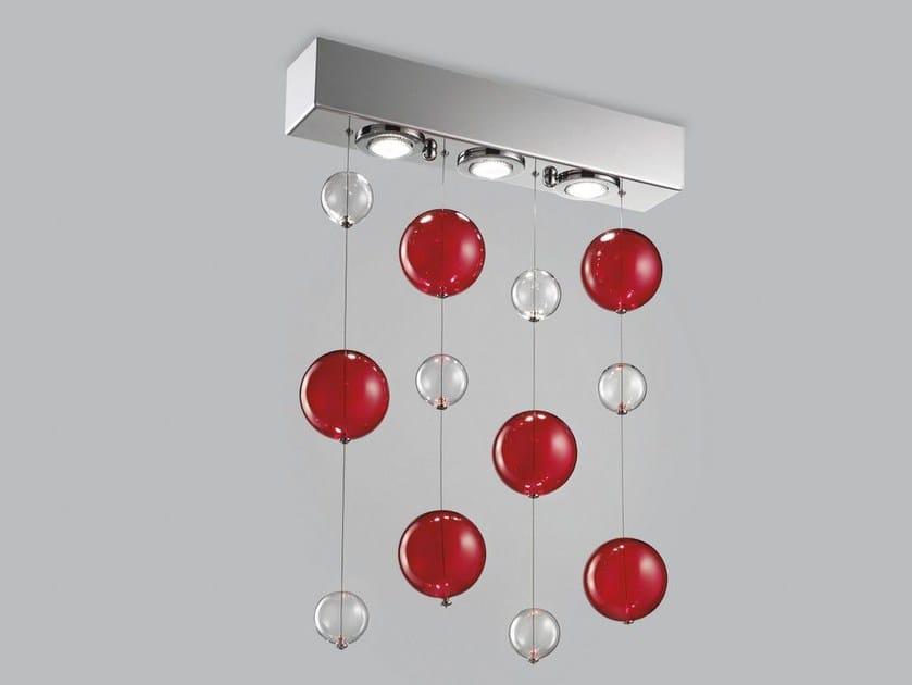 Blown glass ceiling lamp BOLERO 50x9 by Metal Lux
