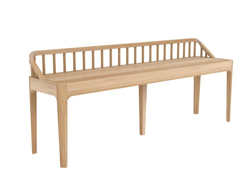 Oak bench OAK SPINDLE | Bench by Ethnicraft