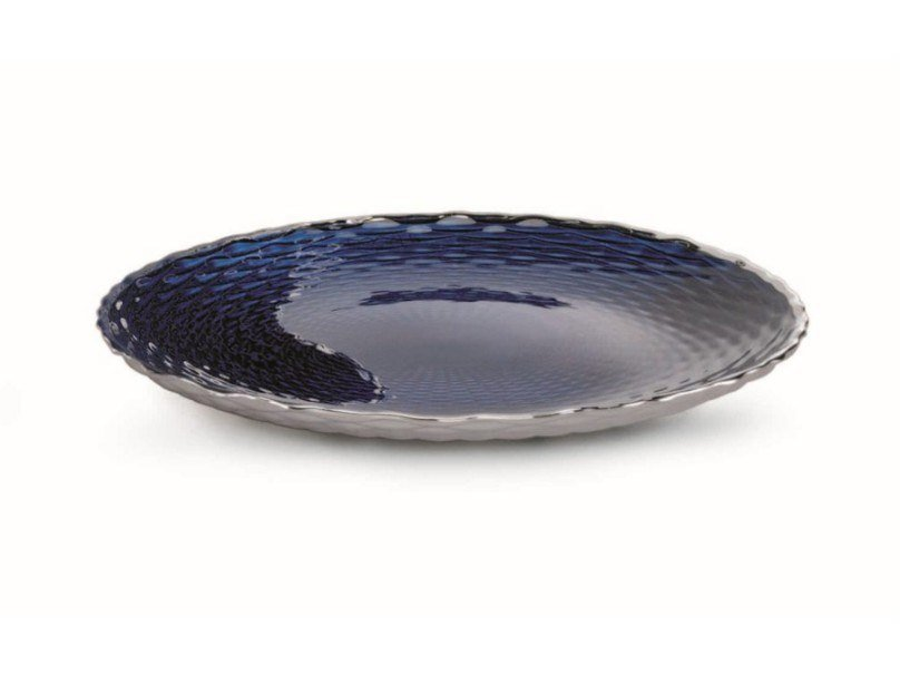 Plate in glass covered by silver DOGALE | Plate by RINO GREGGIO ARGENTERIE