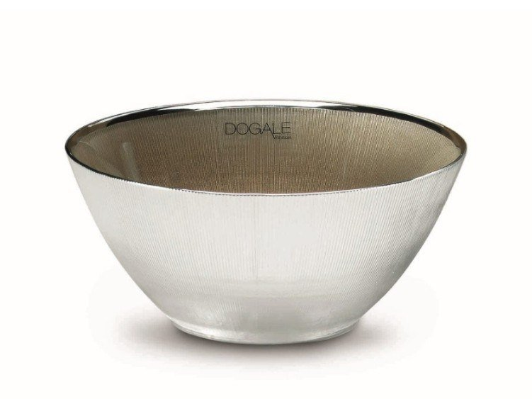 Bowl in glass covered by silver DOGALE   Glass bowl by RINO GREGGIO ARGENTERIE