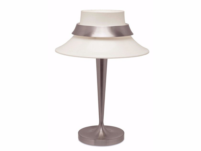 Lampe de chevet en métal pour éclairage direct 517 | Lampe de table by Jean Perzel