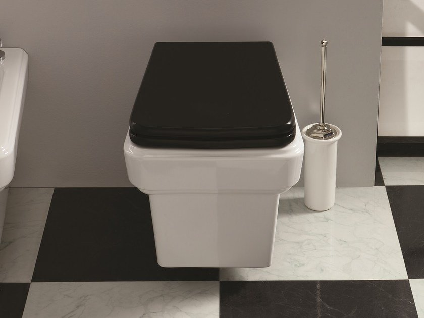 Wall-hung ceramic toilet SO FIFTIES   Wall-hung toilet by BLEU PROVENCE