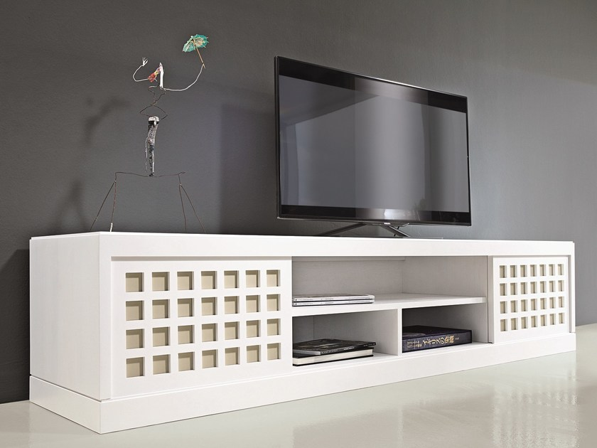 Lacquered wooden TV cabinet 5276/A by MARKTEX