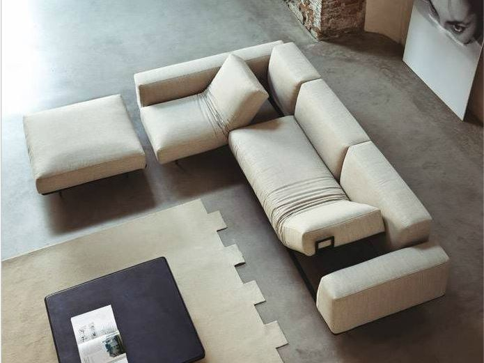 Recliner fabric sofa with chaise longue 535 SIT UP | Sofa with chaise longue by Vibieffe