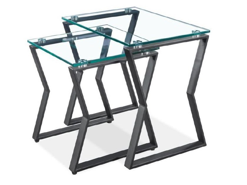 Rectangular tempered glass coffee table 535NT   Coffee table by Reflection