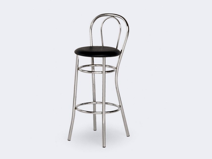 High stool with footrest 537 | Stool by Inday