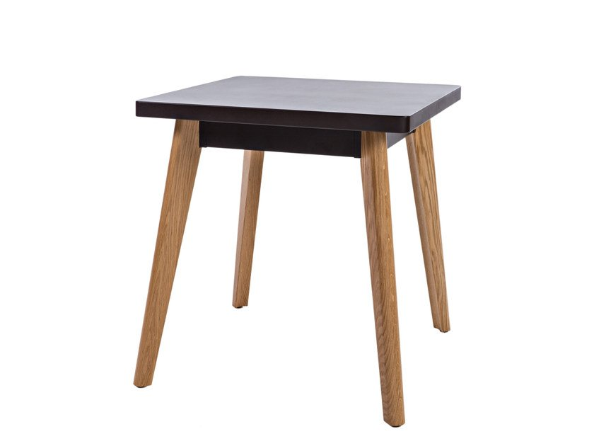 Square wooden table 55 | Table by Tolix