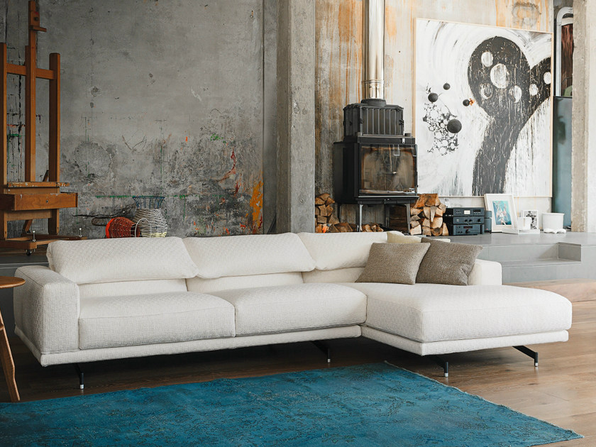 Sofa with chaise longue 550 ALTOPIANO | Sofa with chaise longue by Vibieffe