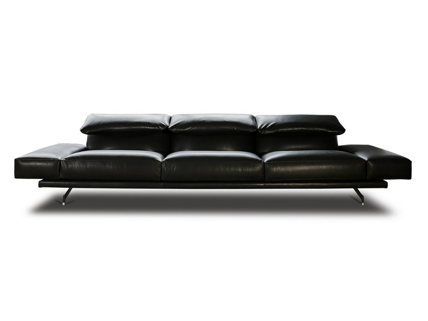 Leather sofa 550 ALTOPIANO | Leather sofa by Vibieffe
