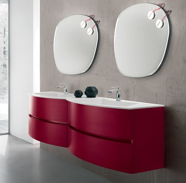 Double vanity unit with drawers 56 by RAB Arredobagno