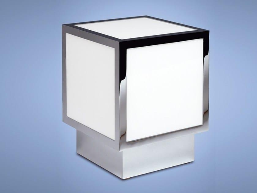 Lampada da tavolo a luce diretta in vetro 575   Lampada da tavolo by Jean Perzel