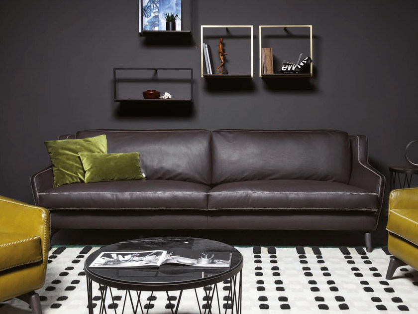Leather sofa 575 HI_STORY | Leather sofa by Vibieffe