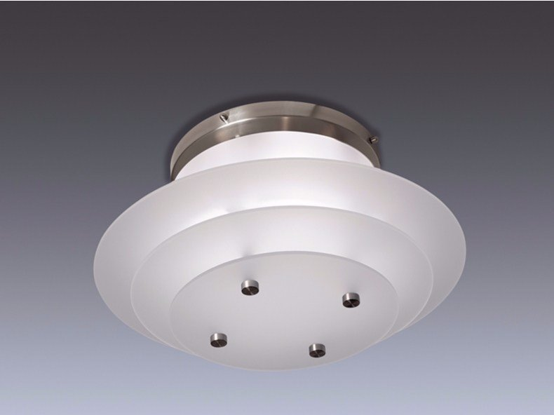 Direct light glass ceiling light 58 | Ceiling light by Jean Perzel