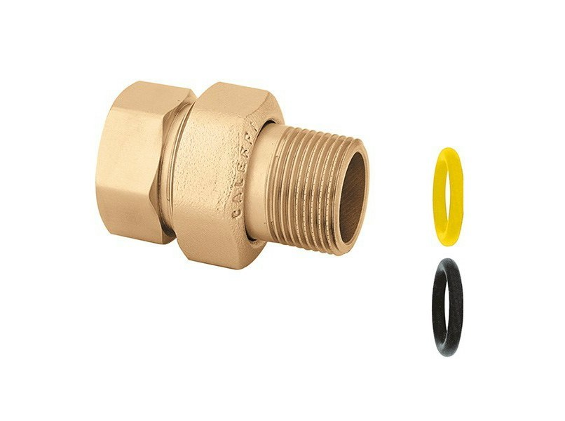 Pipe for domestic gas network 588 Three-piece straight union fitting by CALEFFI