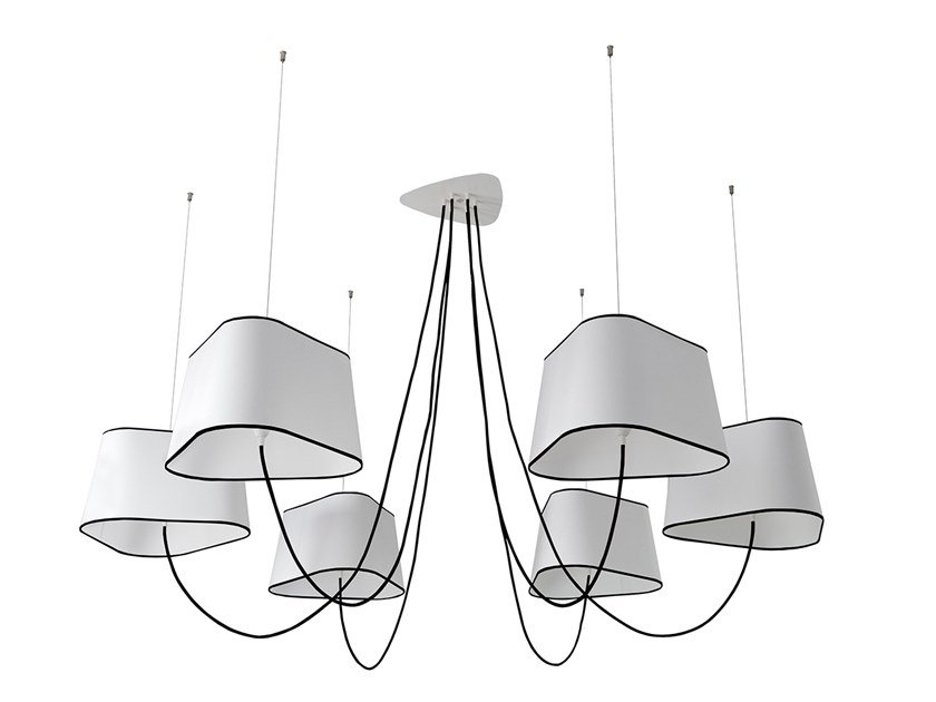 Fabric chandelier NUACE 6 | Chandelier by designheure
