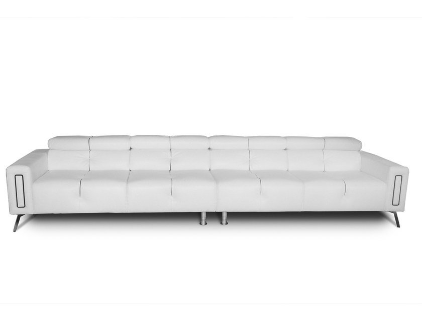 6 seater leather sofa DELIA | 6 seater sofa by Nieri