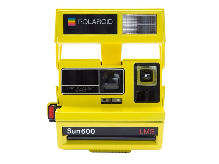 instant camera 600 80s style smiley yellow by polaroid originals