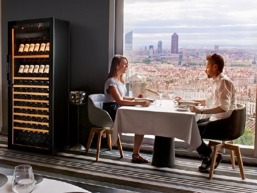 Freestanding Maturing wine cooler 6000: LARGE | Wine cooler with glass door by EuroCave