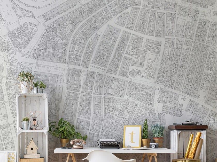 Papel de parede a impressão digital de fibra de vidro com mapa 6000 FT. by Tecnografica