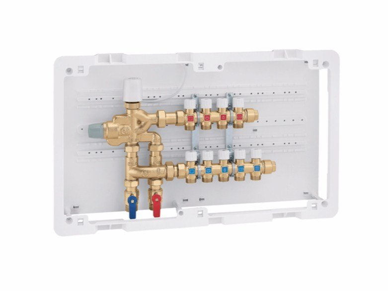 Multi-function compact unit with manifolds 6005 LEGIOFLOW® - with manifolds by CALEFFI