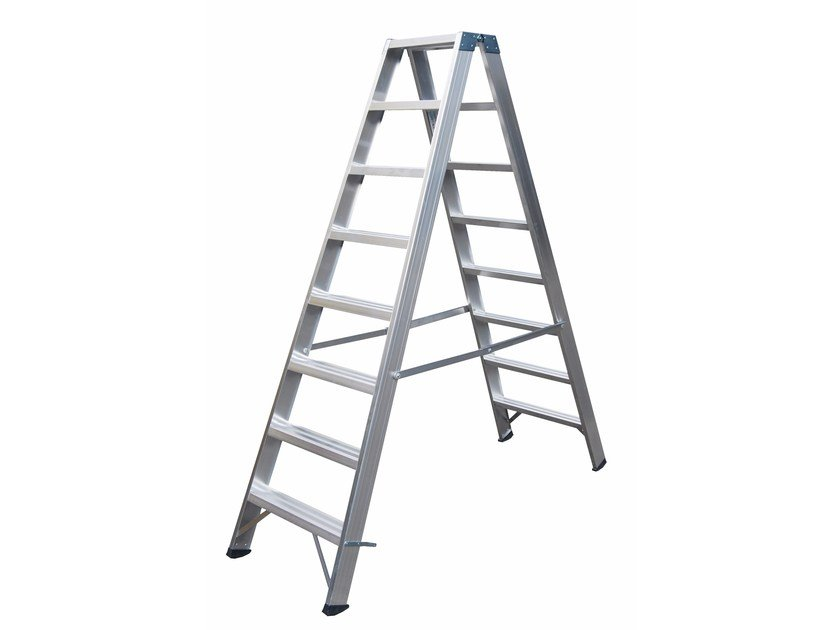 Aluminium heavy duty ladder 6015 by Frigerio Carpenterie