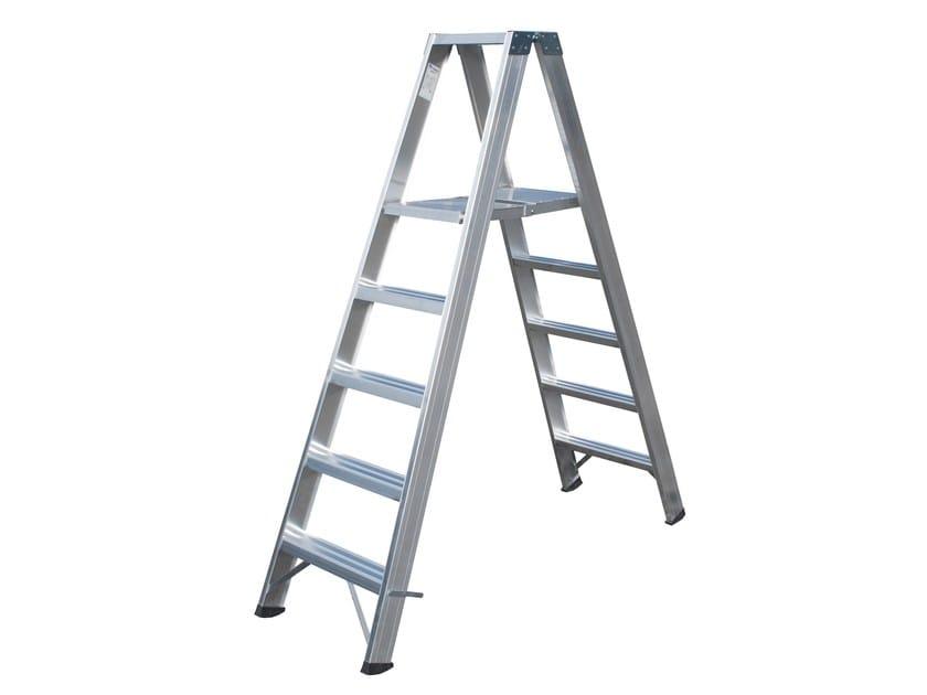 Aluminium heavy duty ladder 6025 by Frigerio Carpenterie